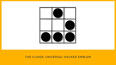 Photo of The Glider, Universal Hacker Emblem