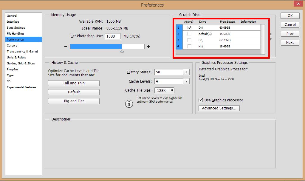 """Solusi Mengatasi """"Scratch Disk Full"""" Error - Photoshop"""