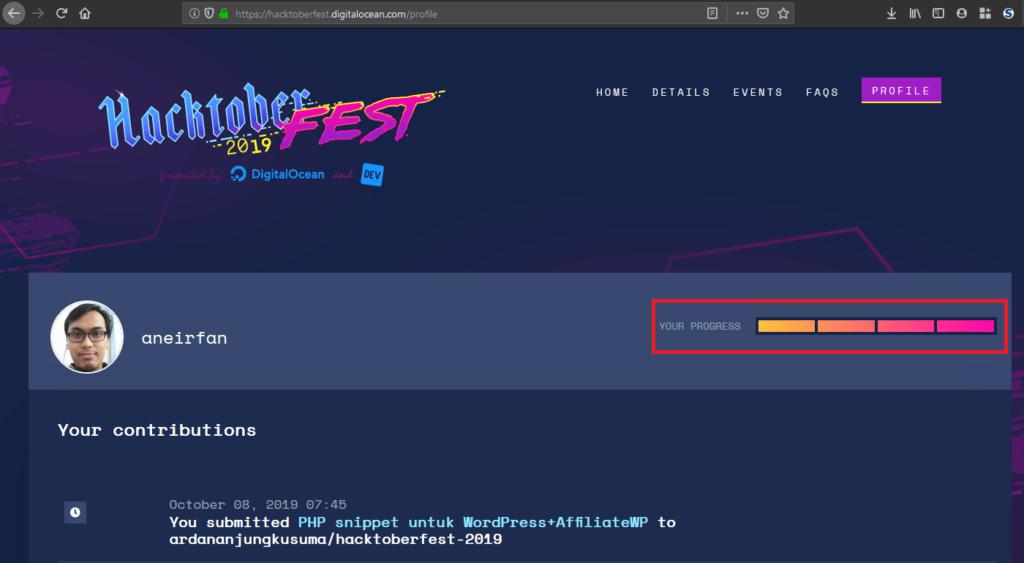 Progress Hacktoberfest
