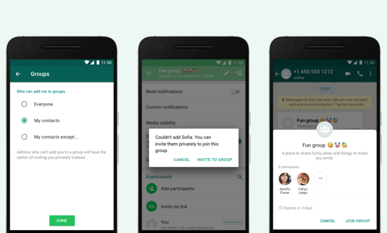 Setelan Privasi Baru, Pengguna Bisa Tolak Undangan Grup WhatsApp